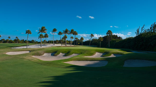 The fifth hole at the private Donald Ross-designed Seminole Golf Club in Juno Beach, Fla.