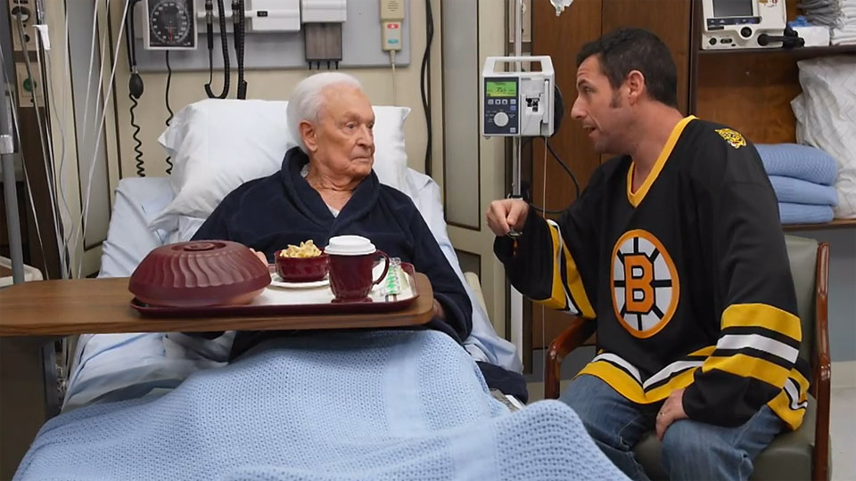 Bob Barker and Adam Sandler still can't put aside their differences.