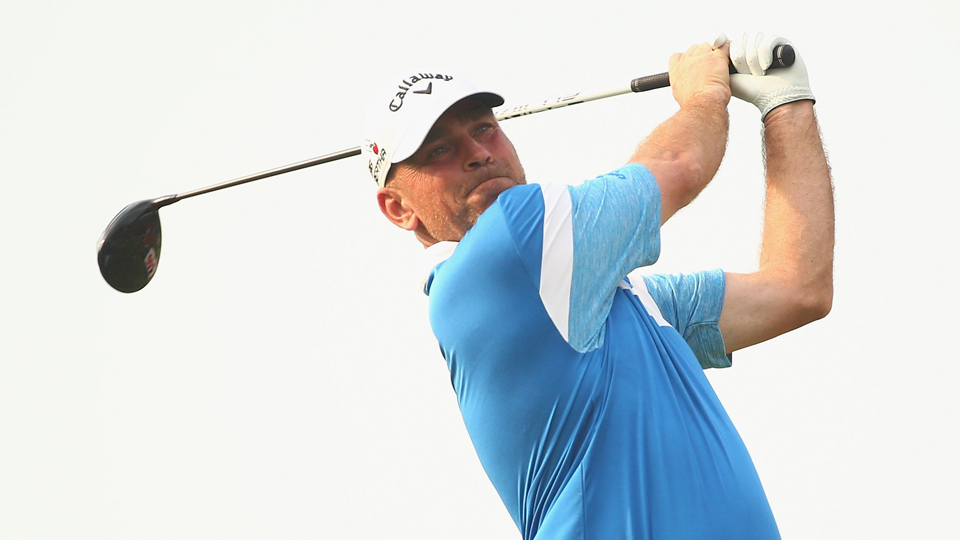 Thomas Bjorn took home a nice check for a quick day of work Thursday.