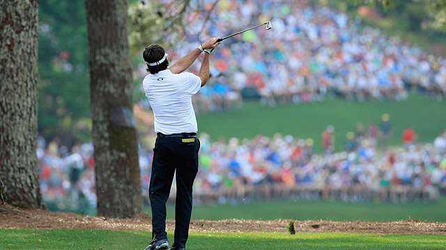 Bubba boldly went for the 15th green in two in 2014.