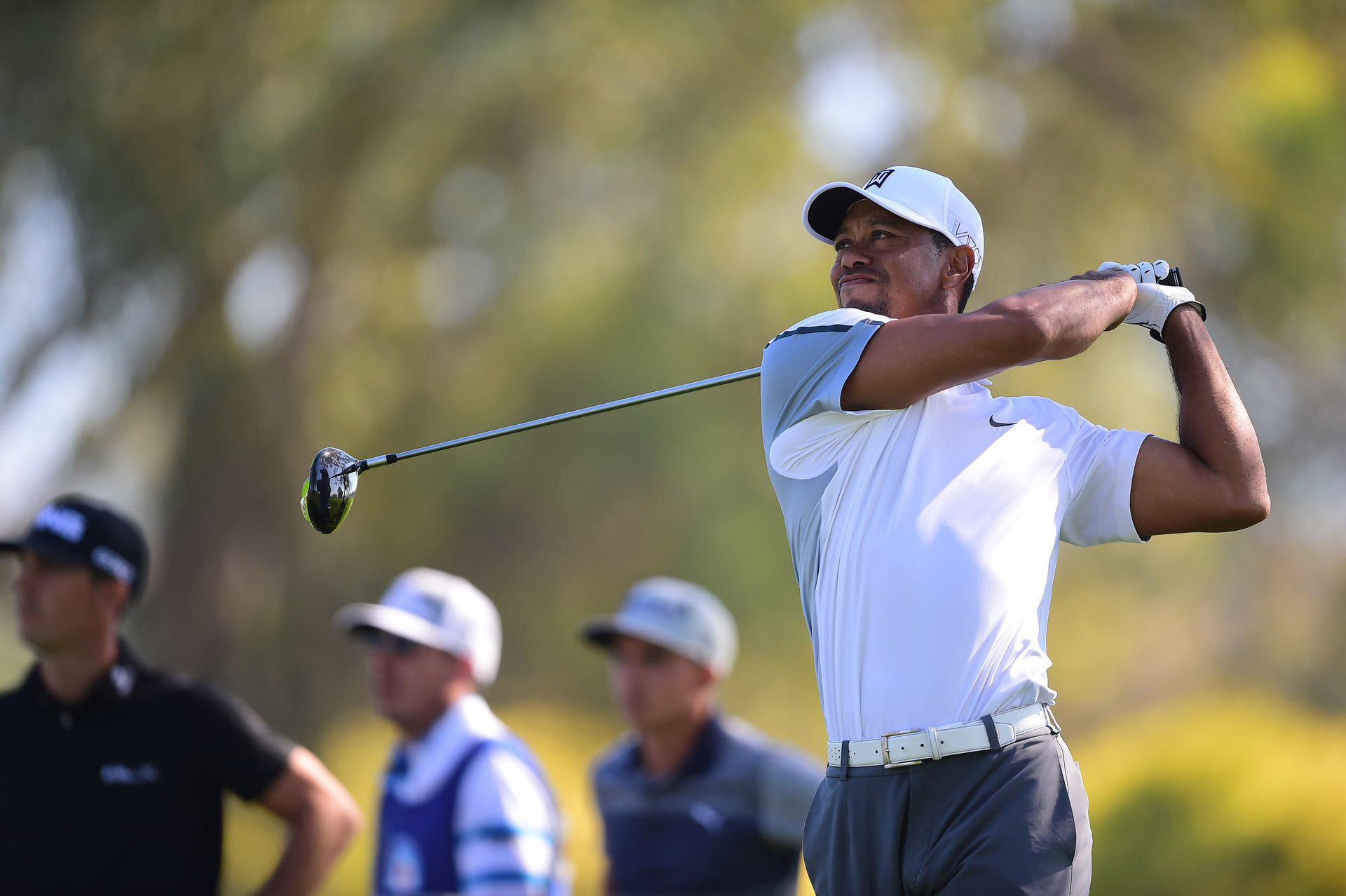 Tiger Woods in the first round the 2015 Farmers Insurance Open at Torrey Pines. Woods withdrew after playing just 12 holes.