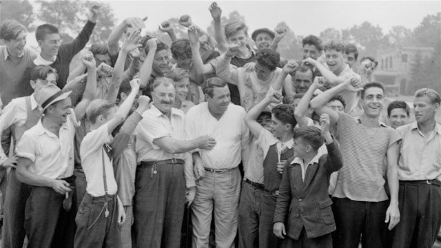 Before Arnie had his Army, Babe (in 1938) drew big crowds.