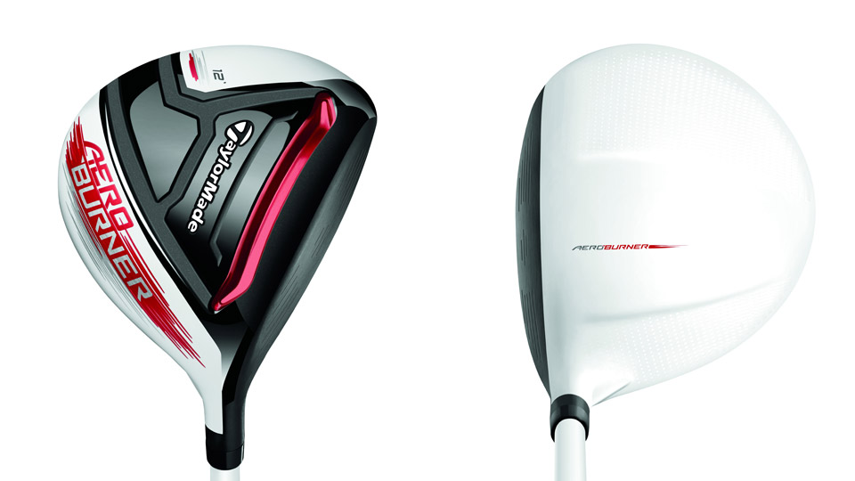 The sole and crown of the TaylorMade AeroBurner Mini driver.