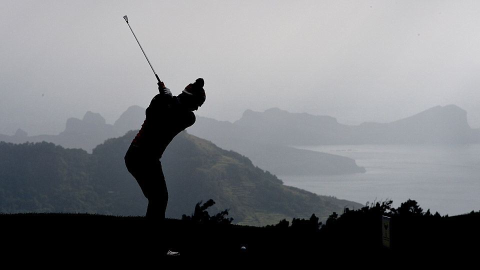 David Law on the course during the 2015 Madeira Islands Open.