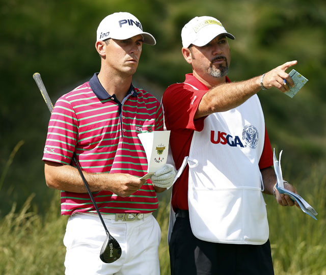 Horschel shared his windfall with his faithful caddie, Micah Fugitt (right), wiring his looper a cool $1 million.