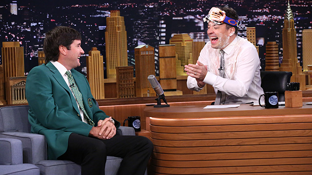 Bubba Watson during an interview with host Jimmy Fallon on March 23, 2015.