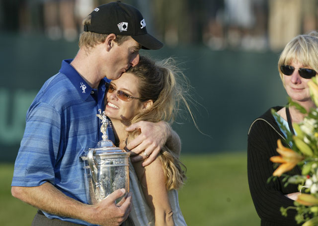 Furyk took the lead into Sunday and won at the 2003 U.S. Open, then celebrated with Tabitha. Nine years later he became unglued at Olympic.