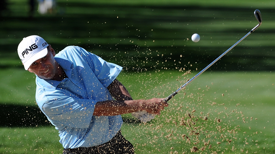 Kevin Sutherland leads the Champions Tour's Mississippi Gulf Resort Classic heading into the final round.