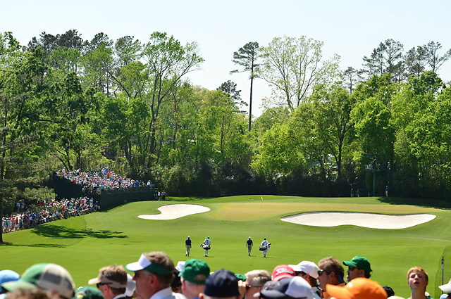 The par-3 4th hole at Augusta National.