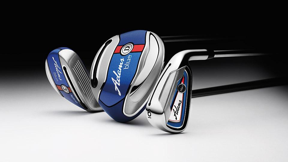 The all-new Adams Blue golf clubs.