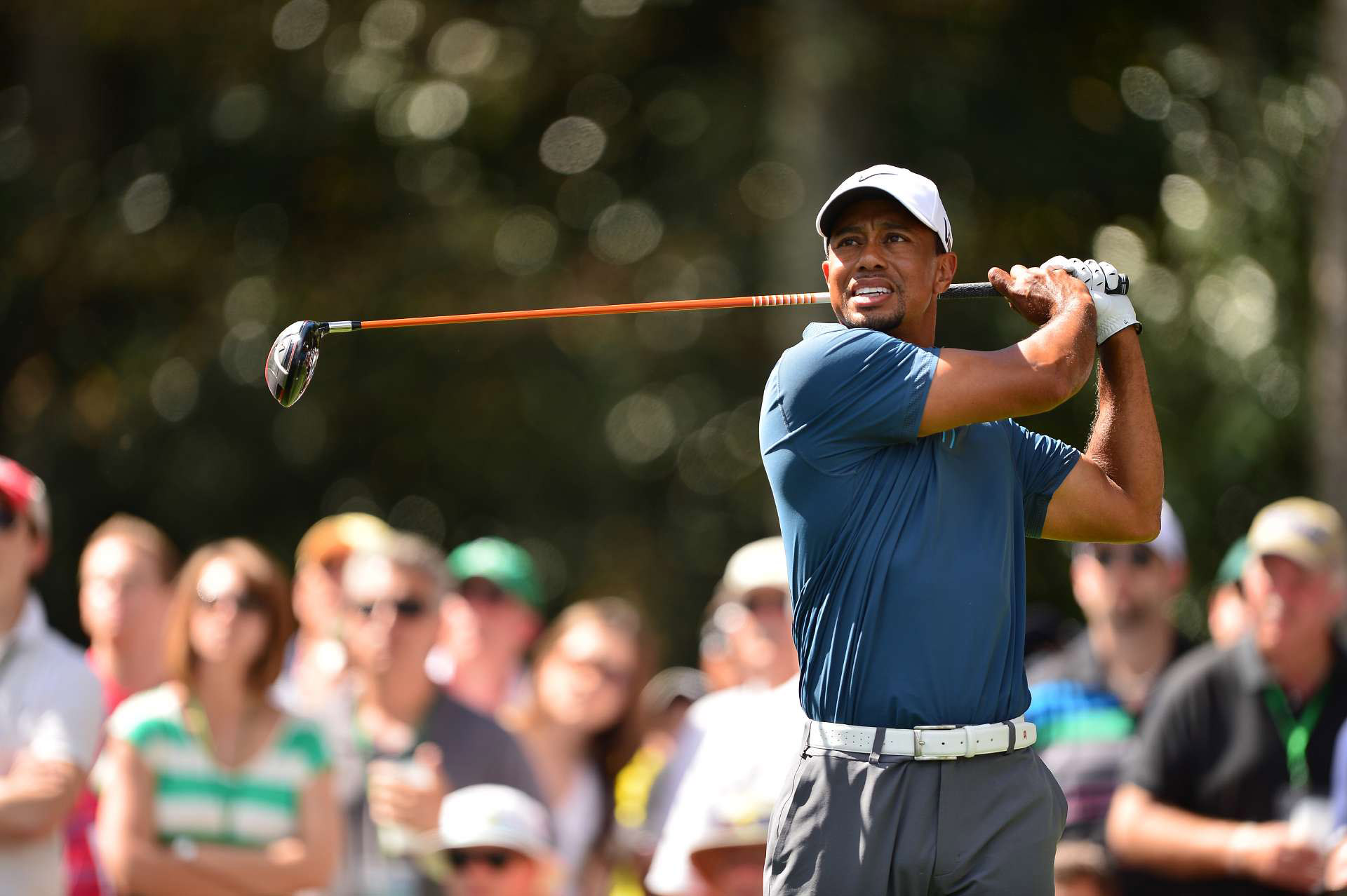 Tiger Woods during the third round of the 2013 Masters. He missed the 2014 Masters after back surgery.