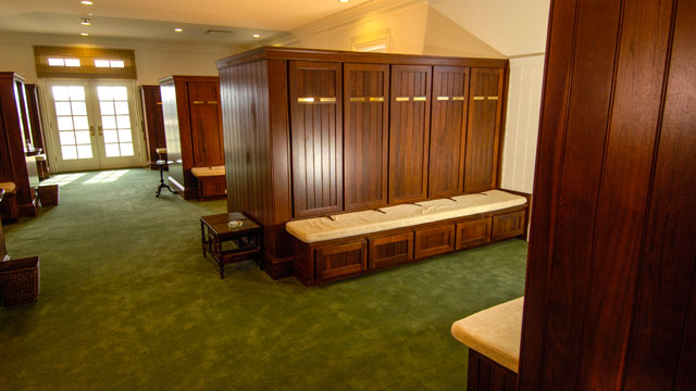 The locker room at Augusta National is often empty during Masters week.