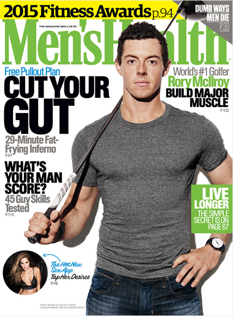 Rory McIlroy is the coverboy of Men's Health May 2015.