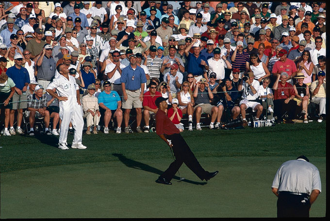 Tiger Woods at the 2001 Masters