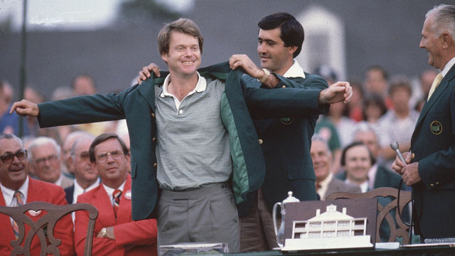 Tom Watson after winning the 1981 Masters.