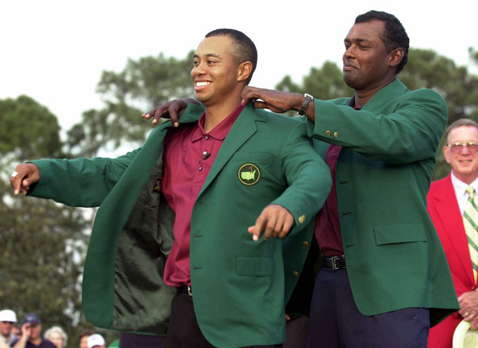 Tiger Woods at the 2002 Masters