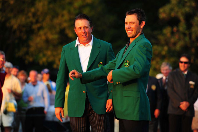 Charl Schwartzel at the 2011 Masters