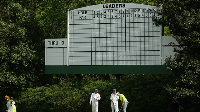 Rory McIlroy during a practice round before the 2015 Masters.