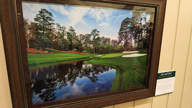This frame photo of the 16th hole at Augusta National costs $525.