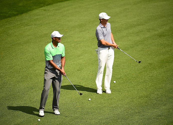 Tiger Woods played a morning practice round with Jordan Spieth.