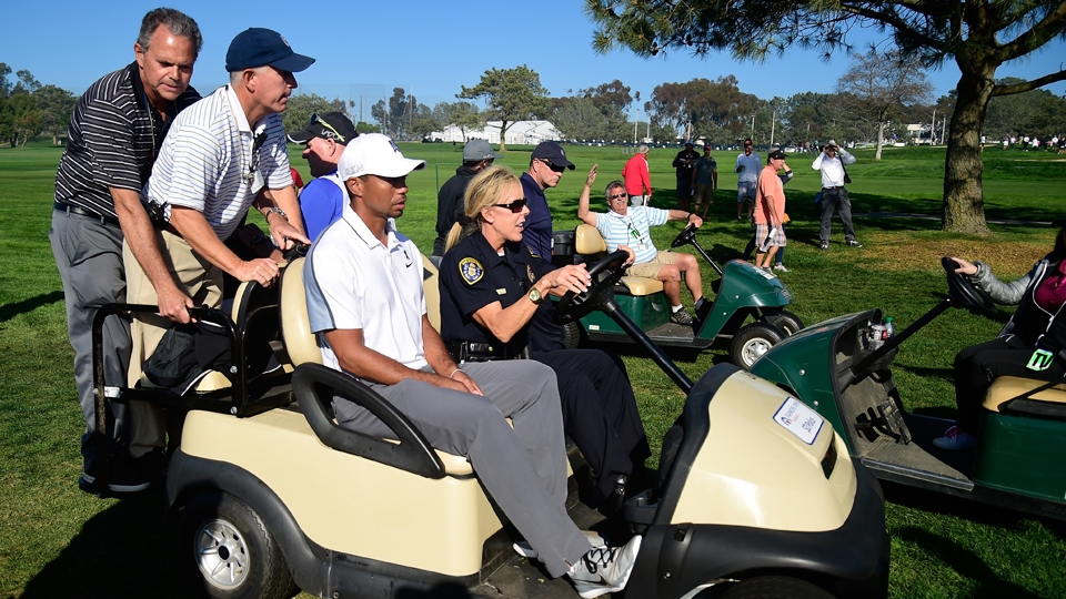 After withdrawing from the Farmers Insurance Open in February, Tiger Woods seems healthy now.