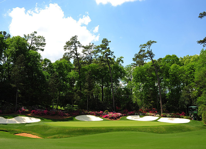 The 13th green at Augusta National.