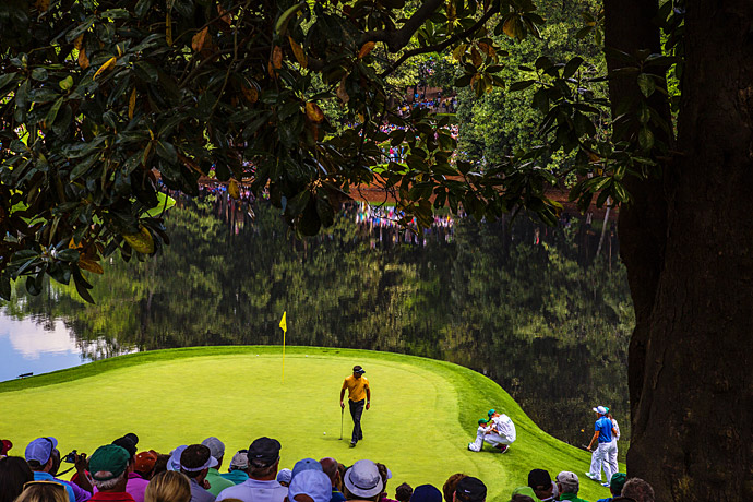 Bubba Watson during the Masters Par-3 Contest.