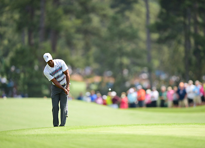 Woods showed no signs of the chipping problems that plagued him earlier this year.