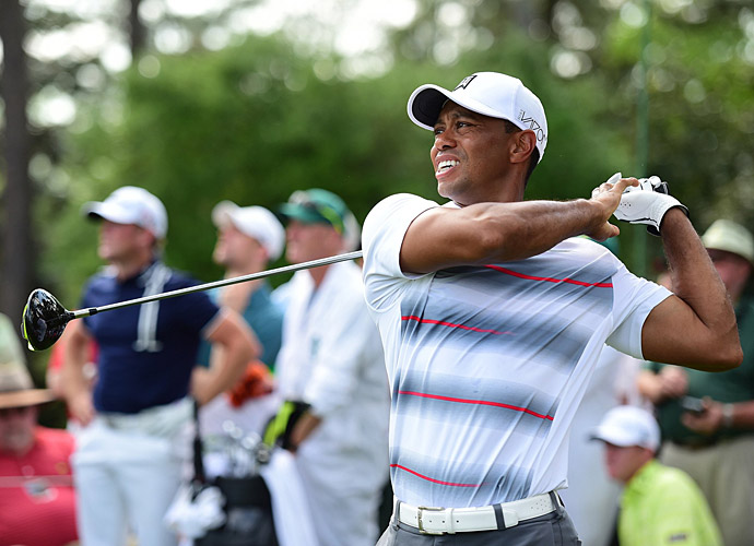 Tiger Woods made his return to competitive golf Thursday at the Masters.