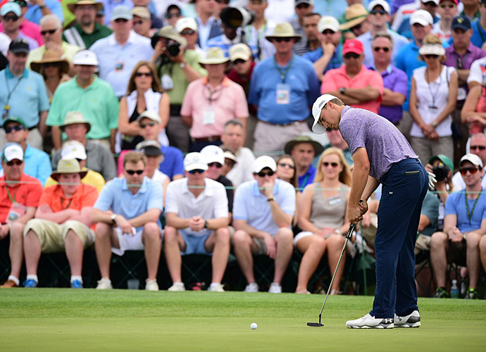 Jordan Spieth continued to dominate play Friday at Augusta National.