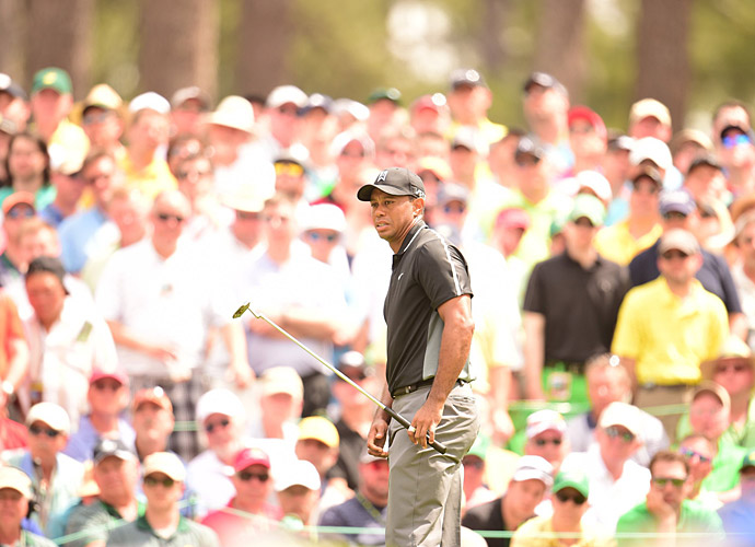 Woods had three birdies and went two under on the front nine.