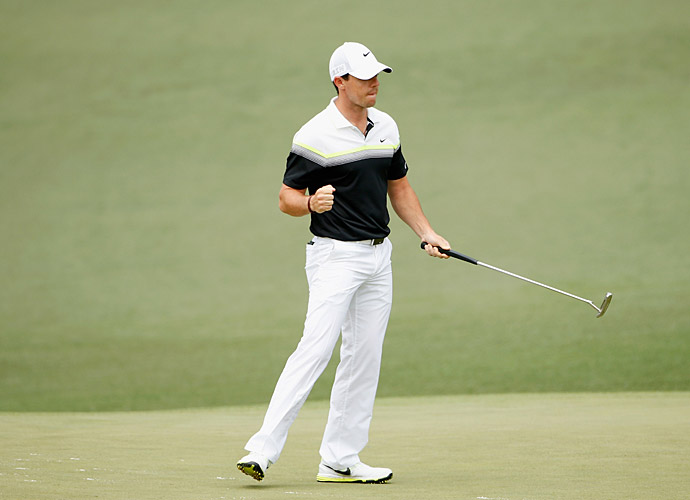 McIlroy made eagle at the par-5 2nd hole.
