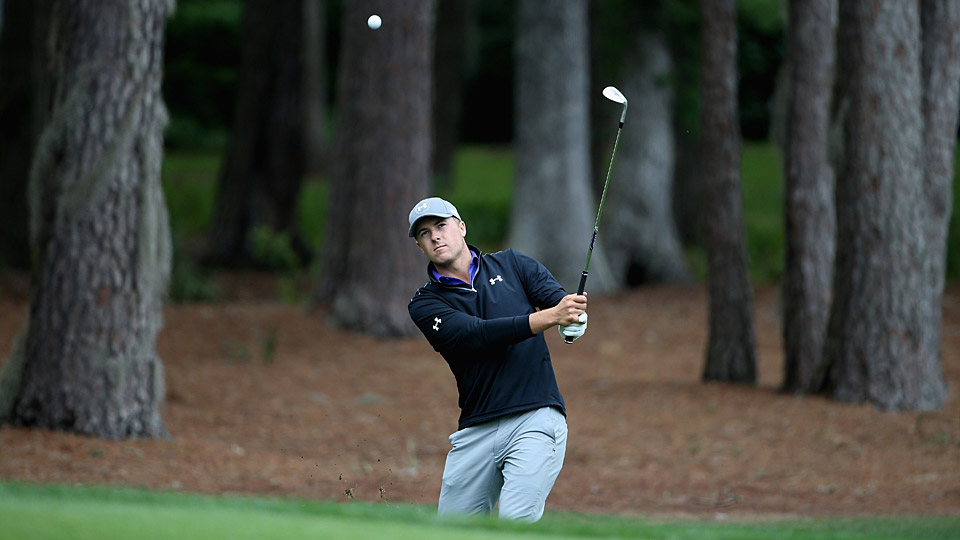 Jordan Spieth shot a three-over 74 in the first round at the RBC Heritage.