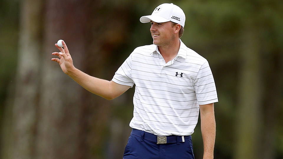 Jordan Spieth thanks the crowd during his spectacular second round at the RBC Heritage.