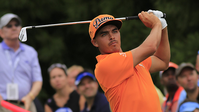 Rickie Fowler in the final round of the FedEx Cup - The Tour Championship at East Lake Golf Club in Atlanta, Georgia.