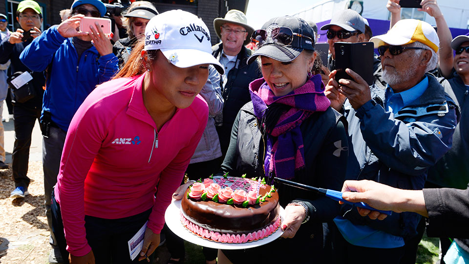 Lydia Ko celebrates her 18th birthday before defending her title at the Swinging Skirts LPGA Classic.