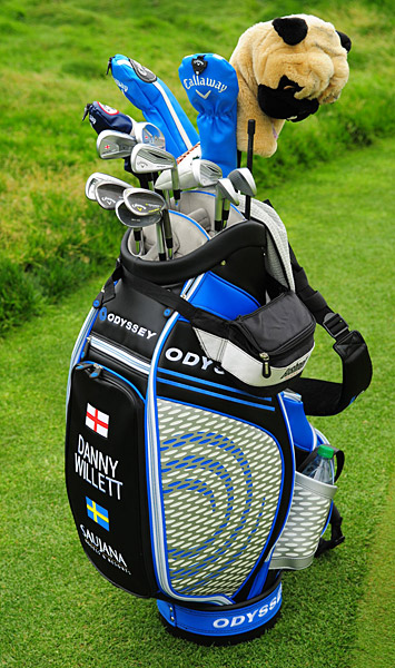 Danny Willett's golf clubs.
