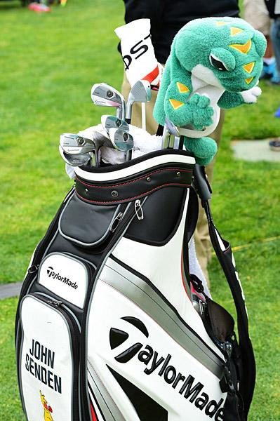 John Senden's golf clubs.