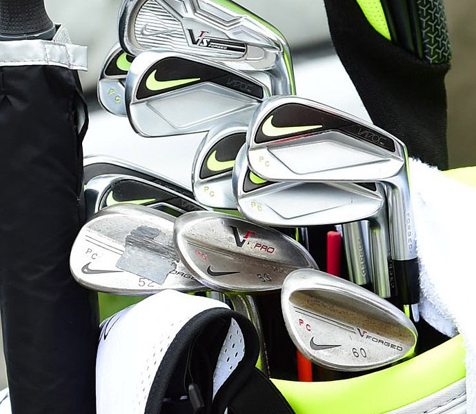 Paul Casey has his initials stamped into his Nike Vapor irons.