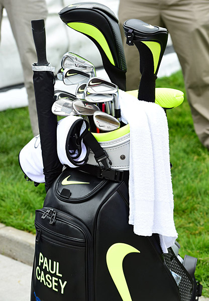 Paul Casey's golf bag.