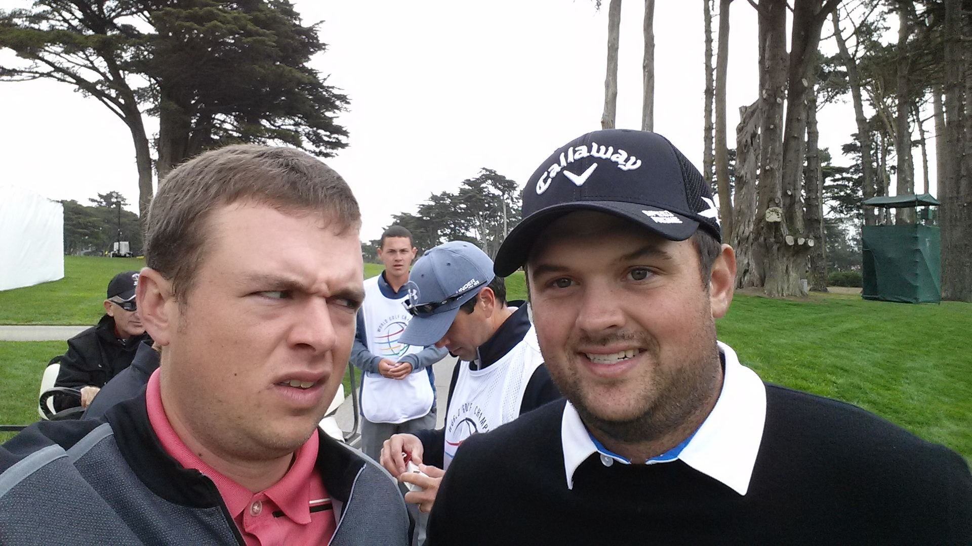 This fan does NOT like Patrick Reed.