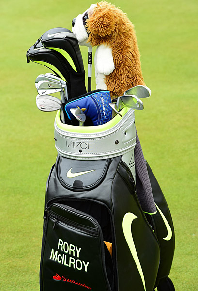 Rory McIlroy's golf clubs.