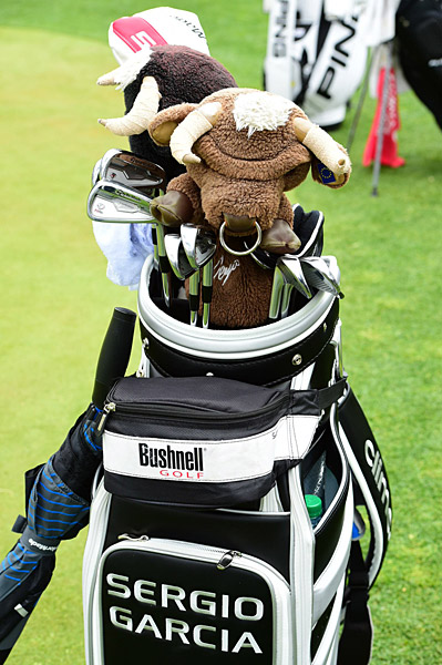 Sergio Garcia's golf bag.