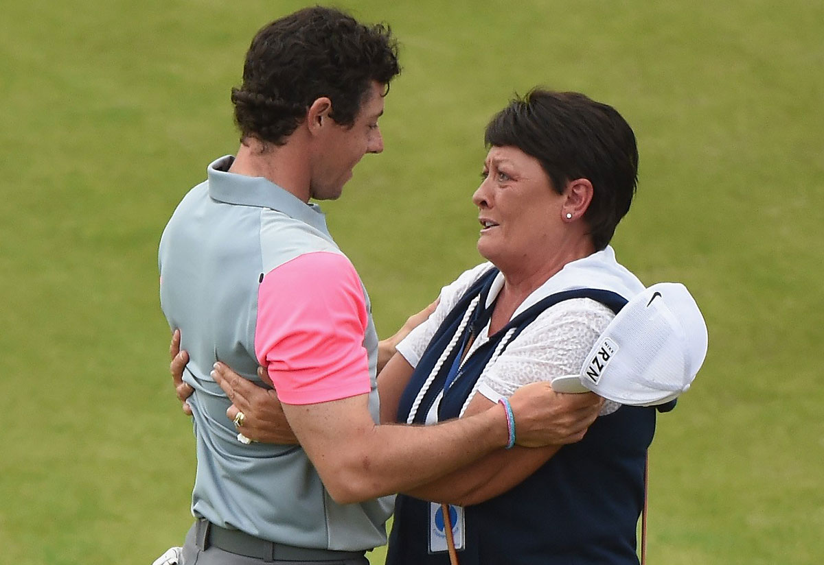 Rory McIlroy and his mother, Rosie.
