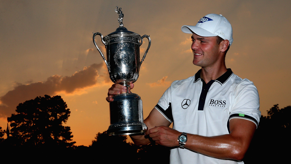 Martin Kaymer raised the U.S. Open trophy last year.