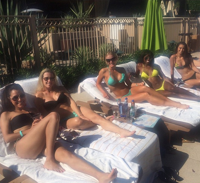 """Yoga. Spa. Pool day with muh girls"""