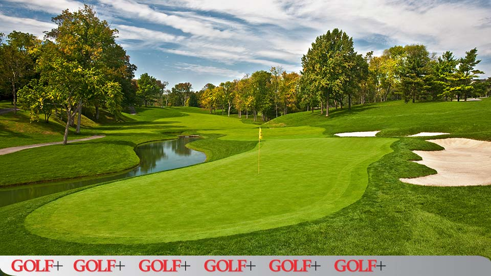 No. 14 at Muirfield Village is a tough test of drive-and-pitch precision.