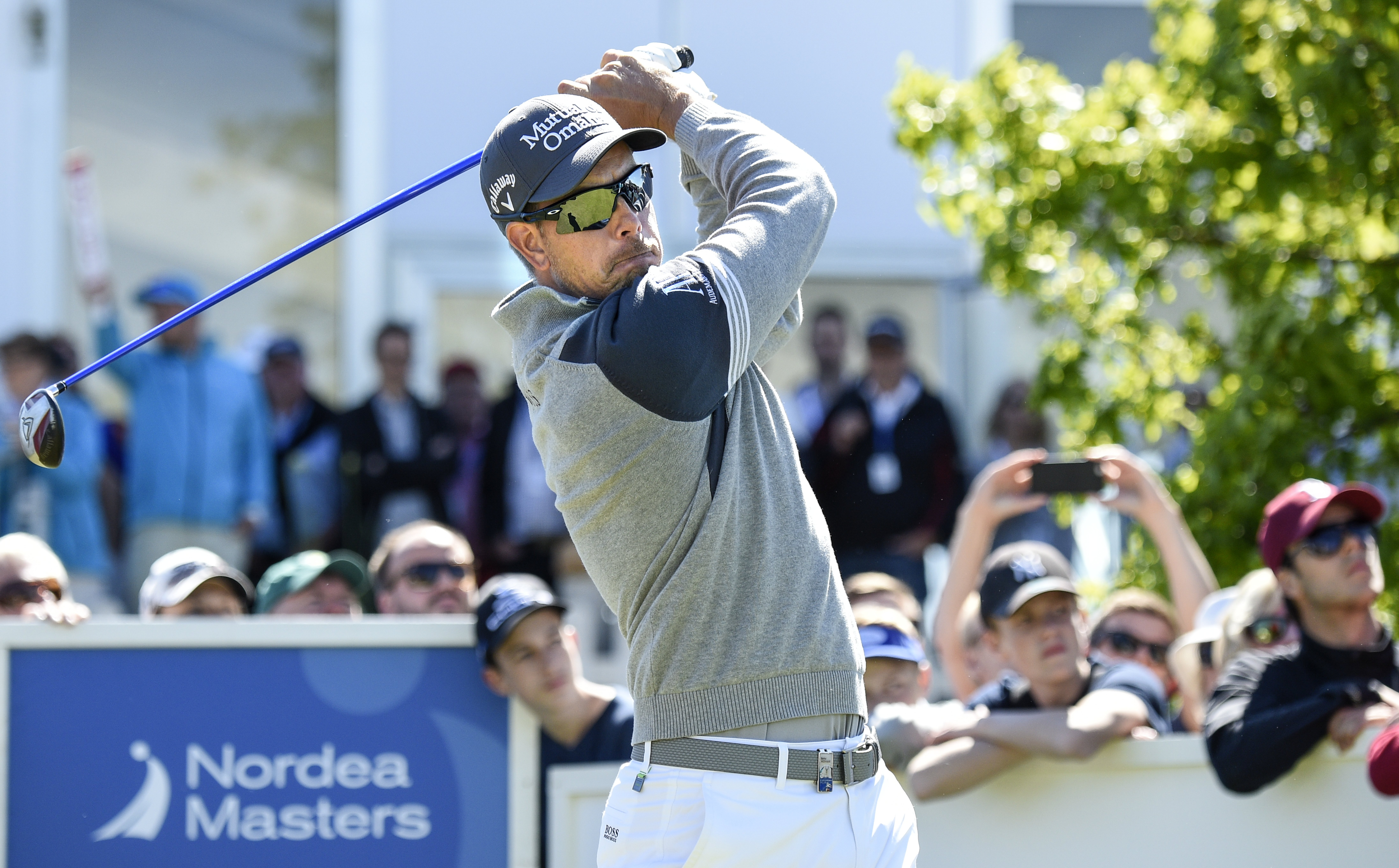Sweden's Henrik Stenson on hole 10 during the Nordea Masters golf tournament at the PGA National golf course outside Malmo, Sweden, Friday, June 5, 2015. (Anders Wiklund / TT via AP)  SWEDEN
