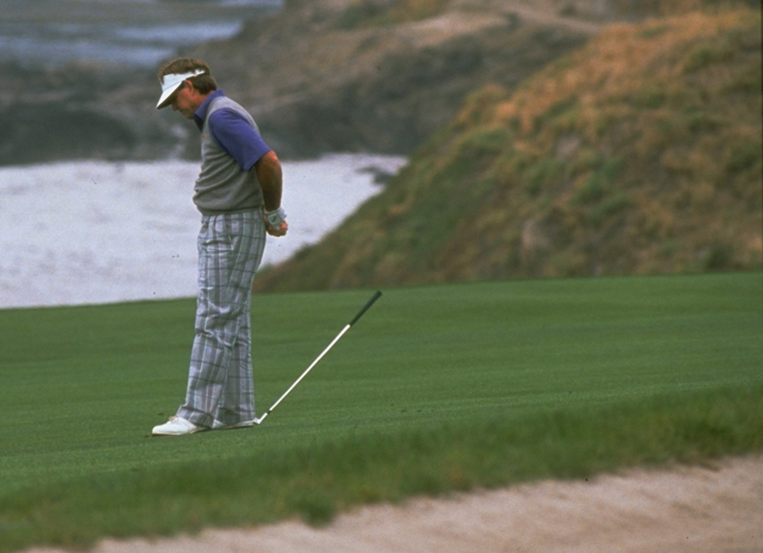 In 1992, Morgan had a big lead heading into the weekend at the U.S. Open. At nine under, he was five shots clear of Raymond Floyd and Wayne Grady. In the third round he became the first player in U.S. Open history to reach 10 under and made it all the way to 12 under and led by seven. Then the wheels fell off. He made three doubles and three bogeys from there to shoot 77 and finished with an 81 on Sunday.