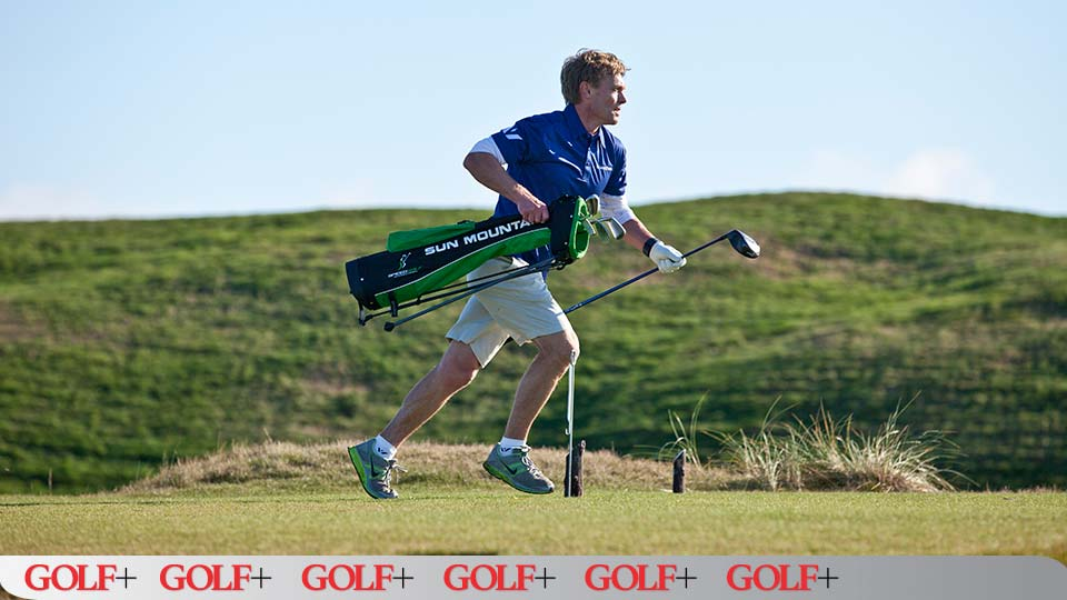 Crum, the 2014 Speed golf champion, shot a 73 at Bandon Dunes in 44 minutes.